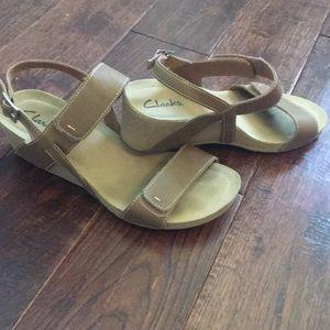 Clark's Wedge Heel Sandals